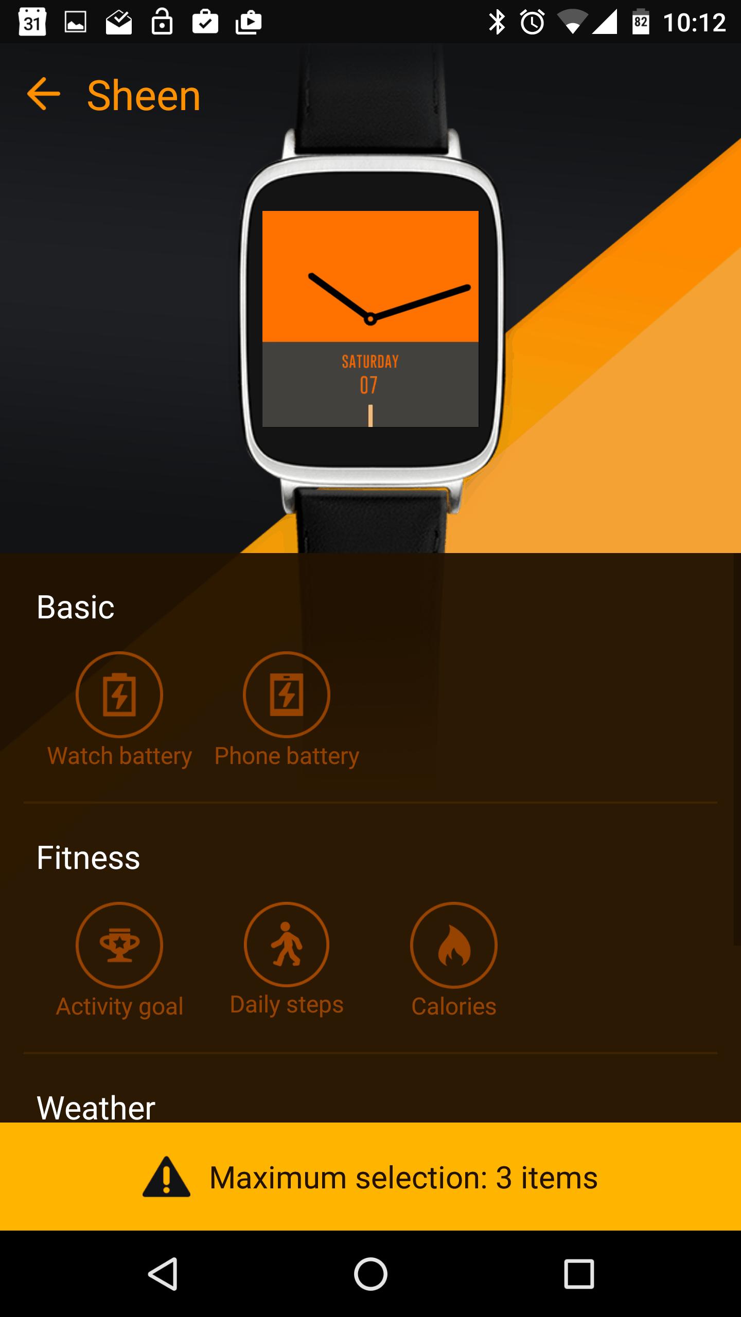 Asus ZenWatch 2 Manager App AH 15