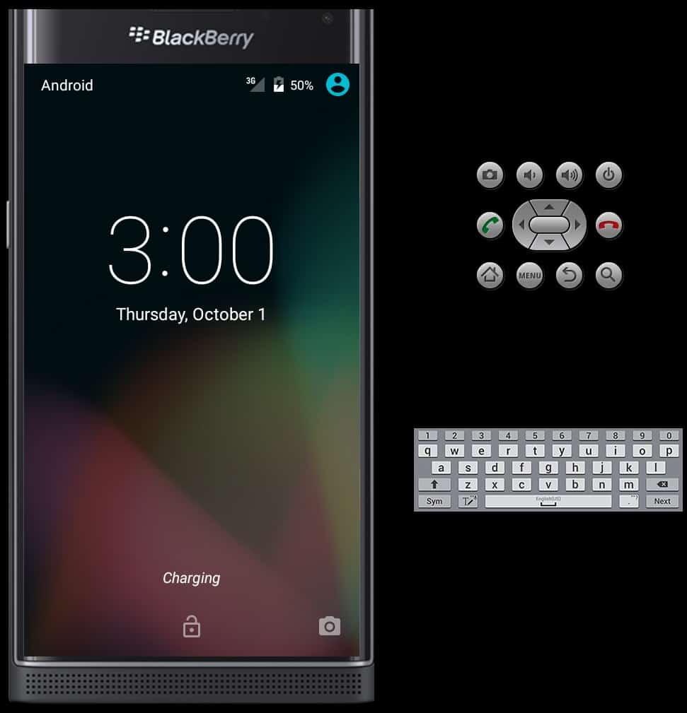 BlackBerry PRIV Emulator