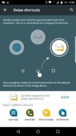 Customizable swipe gestures