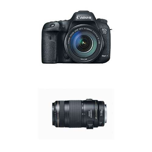 Canon EOS 7D Mark II Digital SLR Camera with 18-135mm and 70-300mm Lens