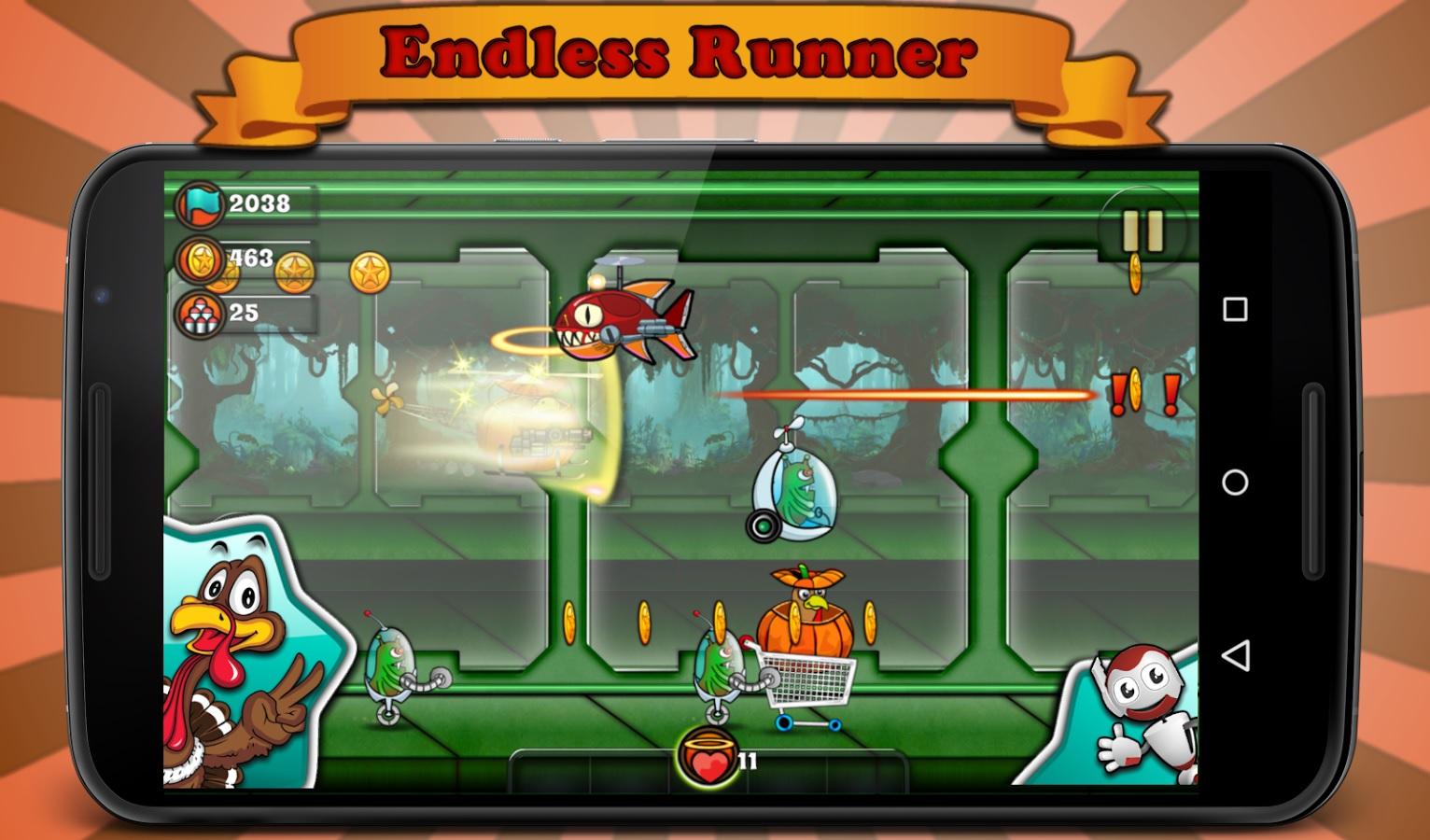 Crazy Turkey Run-Shooting Game