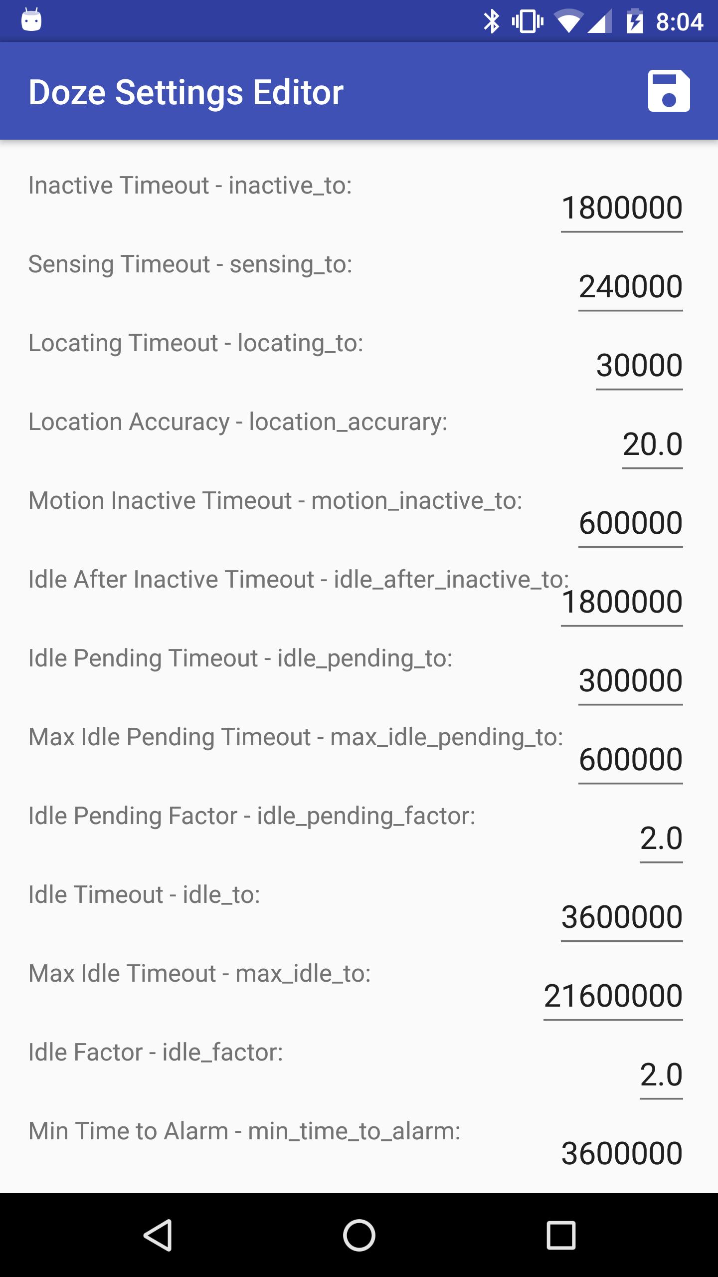 Doze Settings Editor app_1