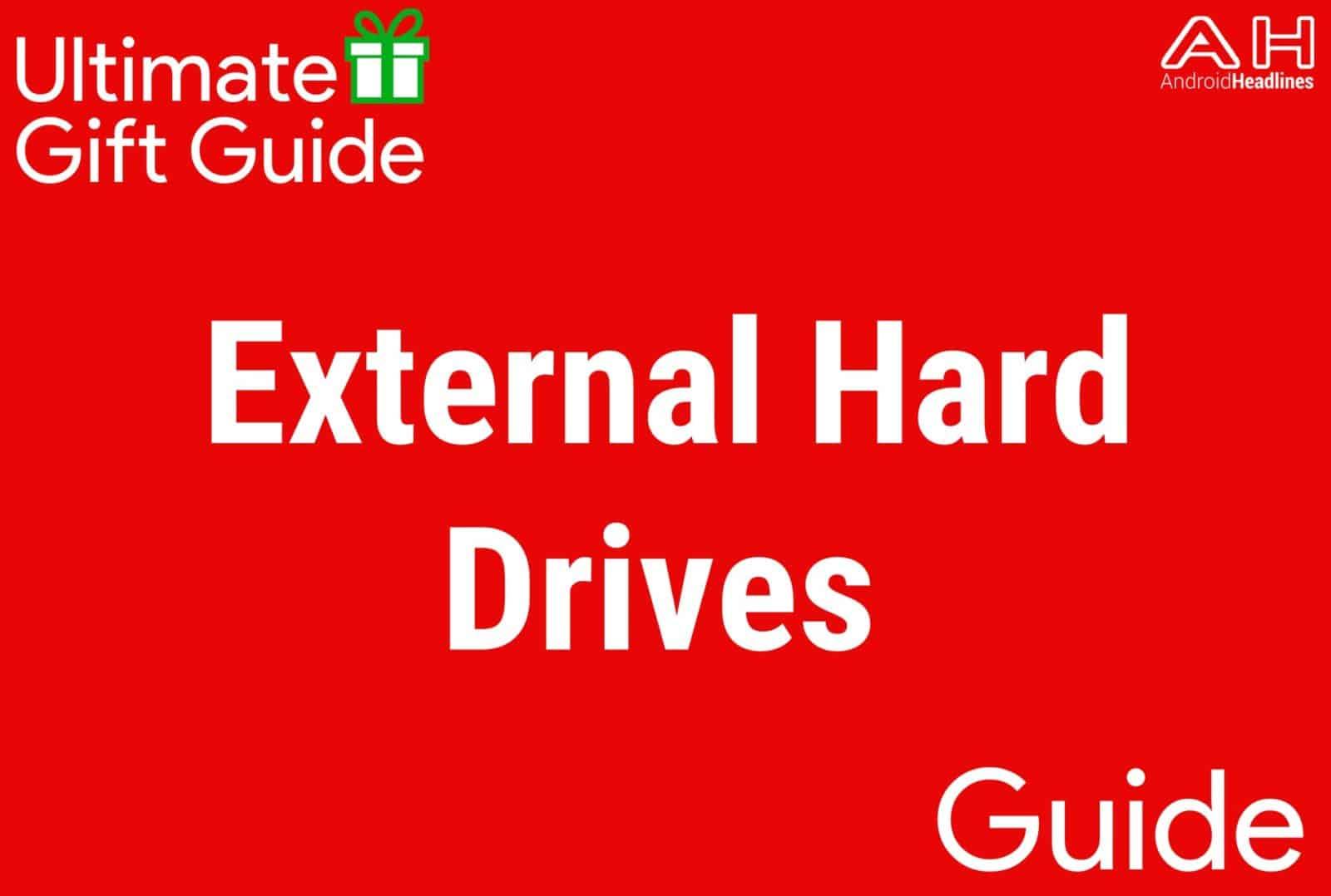External Hard Drives - Gift Guide 2015-2016