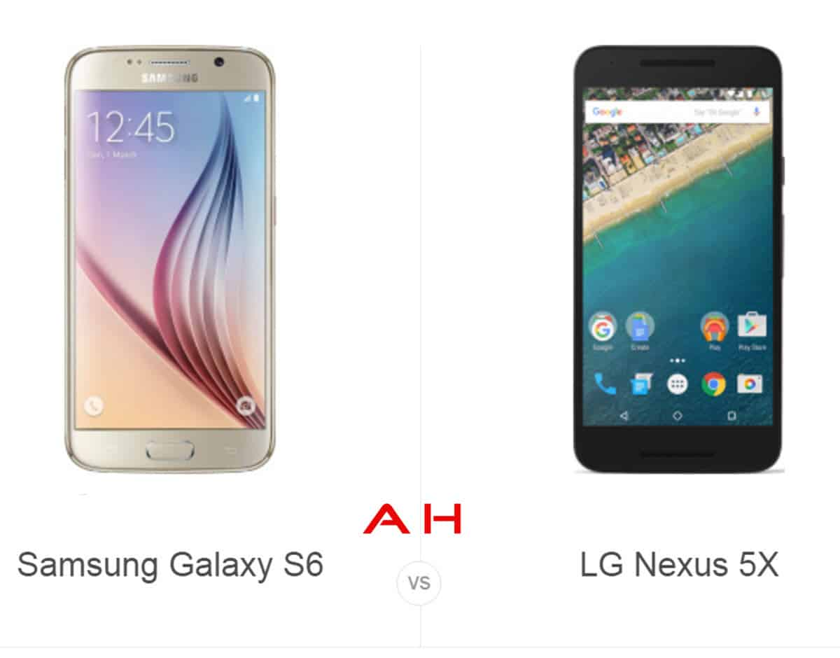Galaxy S6 vs Nexus 5X cam AH