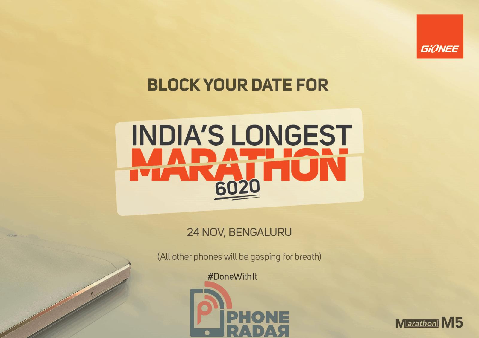 Gionee Marathon M5 India teaser_1