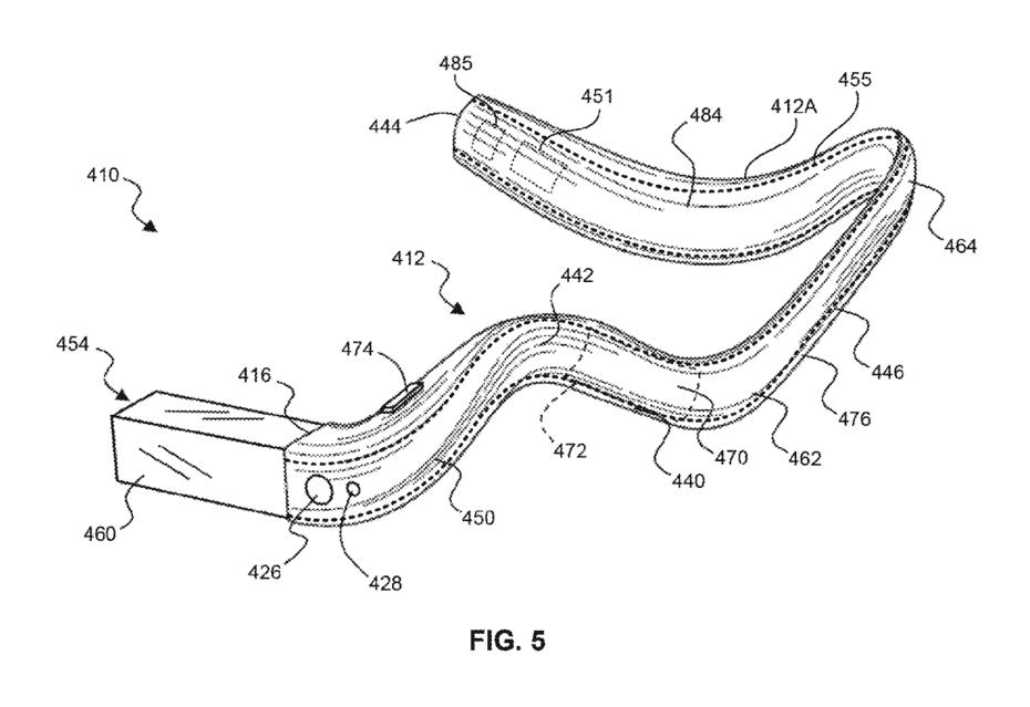 Google Glass Patent Flexible