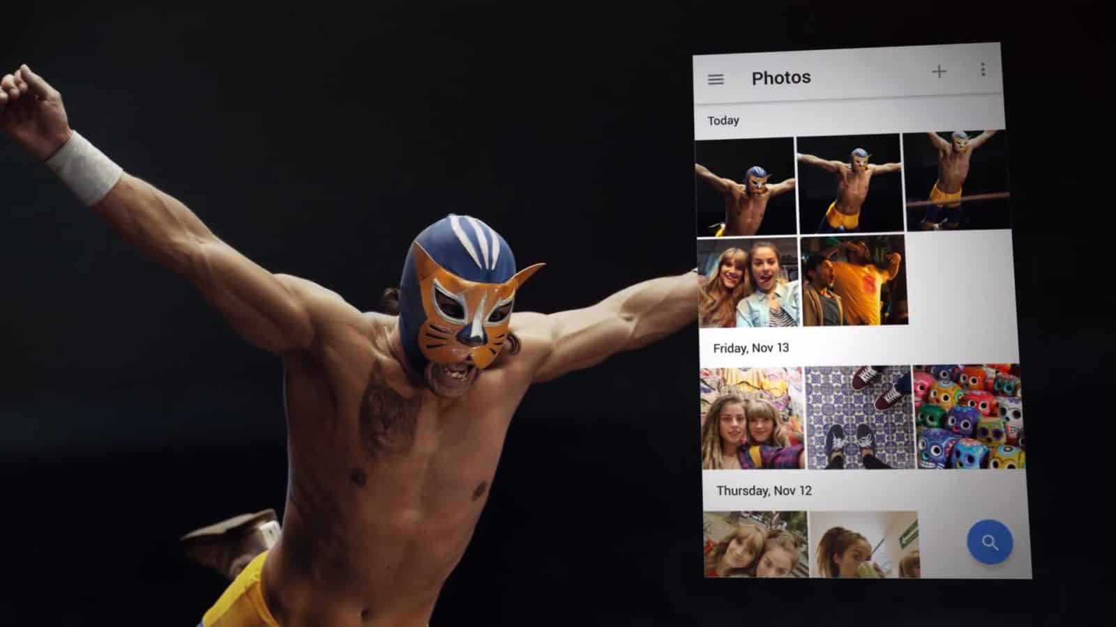 Google Photos Wrestling