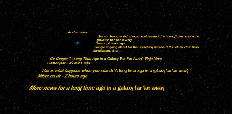 Google Seaarch star wars