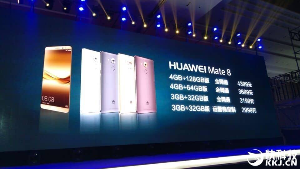 Huawei Mate 8 pricing China_1