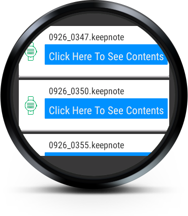 Keep Note (for Android Wear)