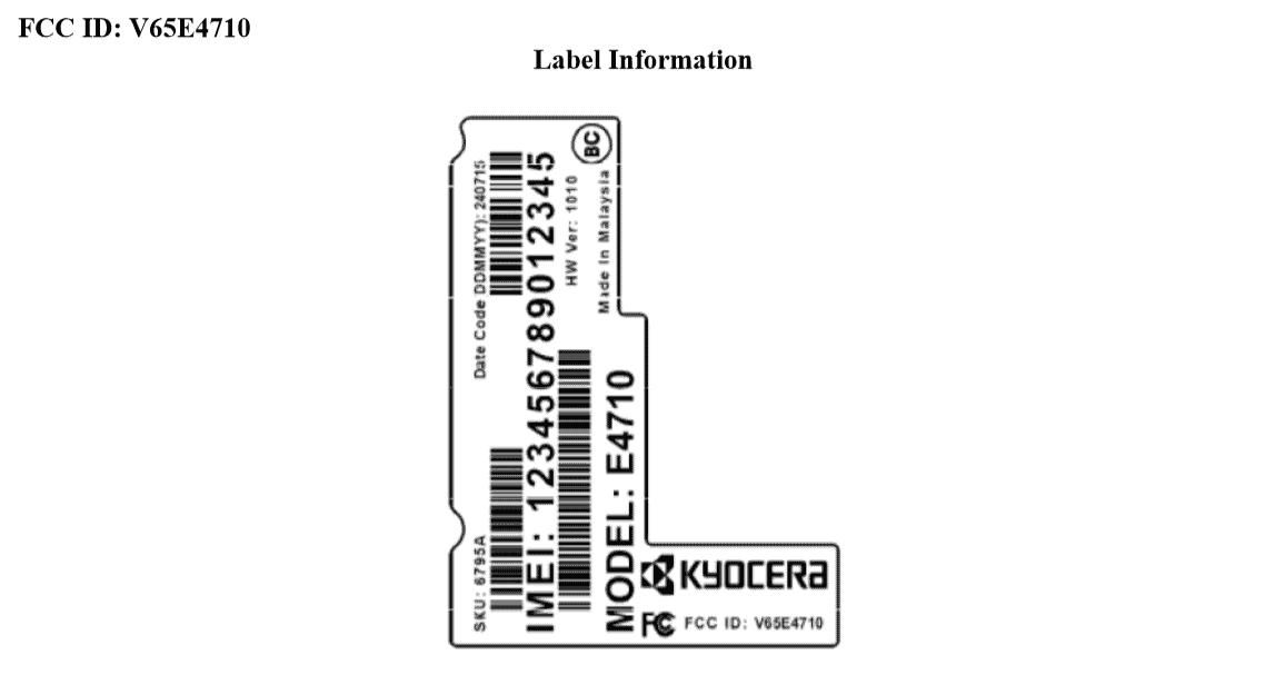 Kyocera E4710 FCC KK