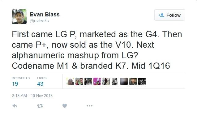 LG K7 - M1 Leak KK