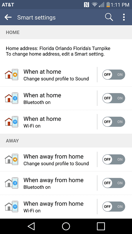 LG V10 AH smart settings 1