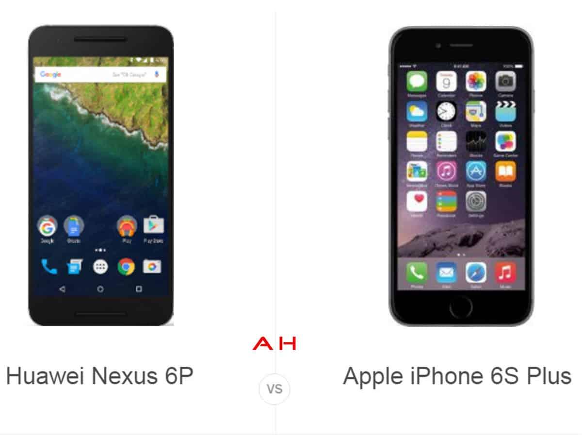 Nexus 6P vs iPhone 6s Plus cam AH