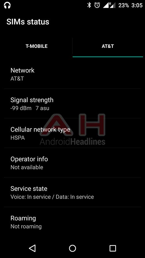 OnePlus X AH Network ATT HSPA