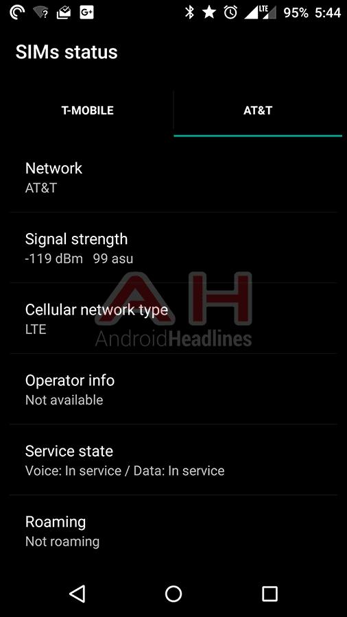 OnePlus X AH Network ATT LTE