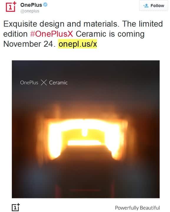 OnePlus X Ceramic Twitter KK