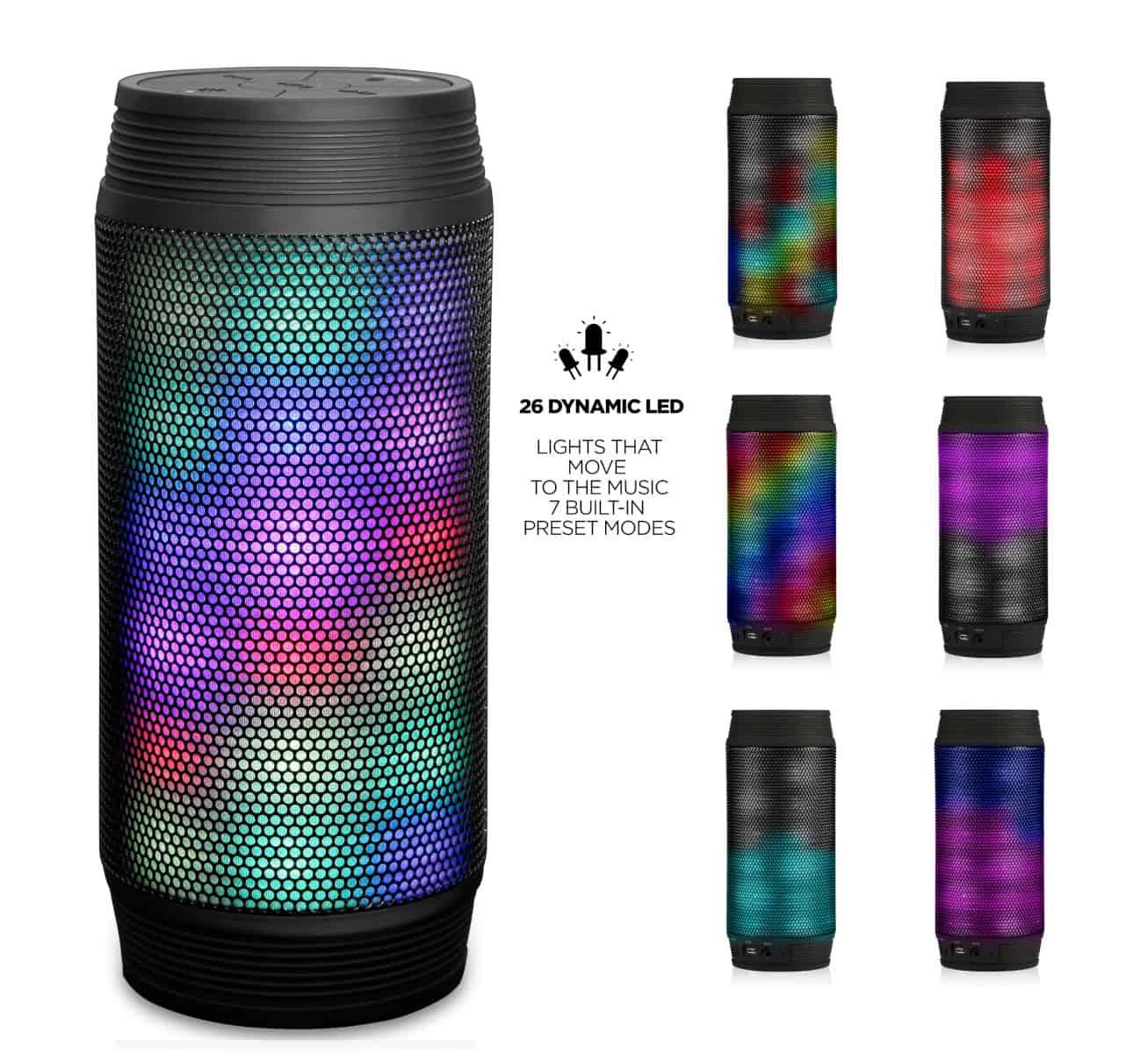 RevJams Discotek LED Bluetooth Speaker-2