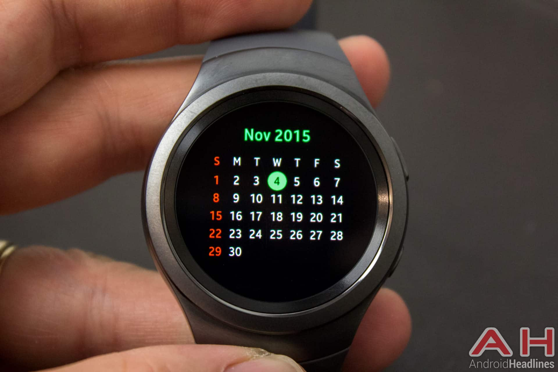 Samsung Gear S2 AH calendar