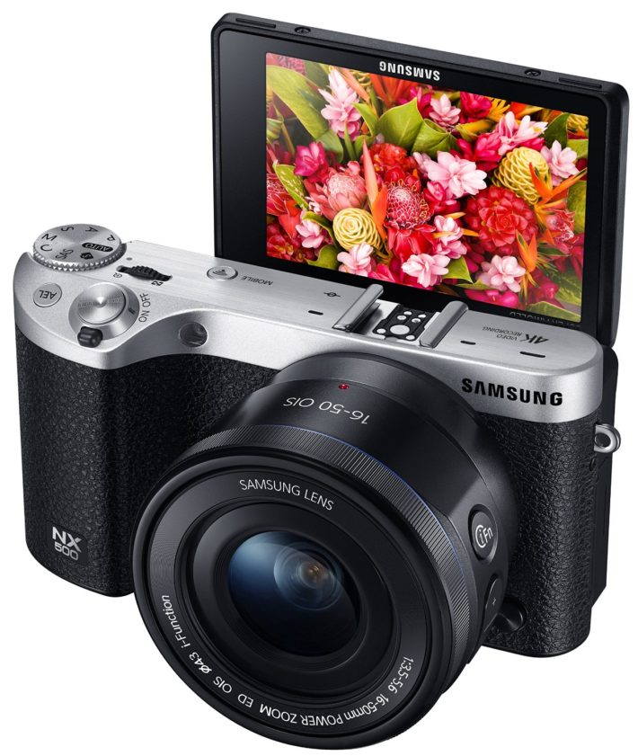 Samsung NX500 28 MP Wireless Smart Mirrorless Digital Camera with 16-50mm Power Zoom Lens