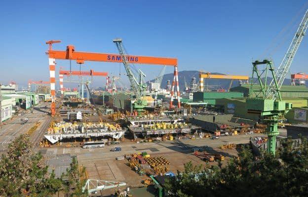 Samsung Shipyard cranes