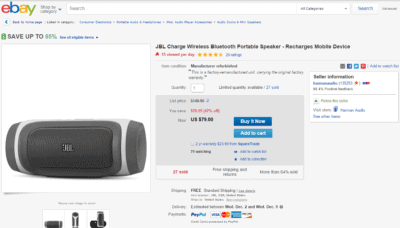 JBL Charge speaker deal