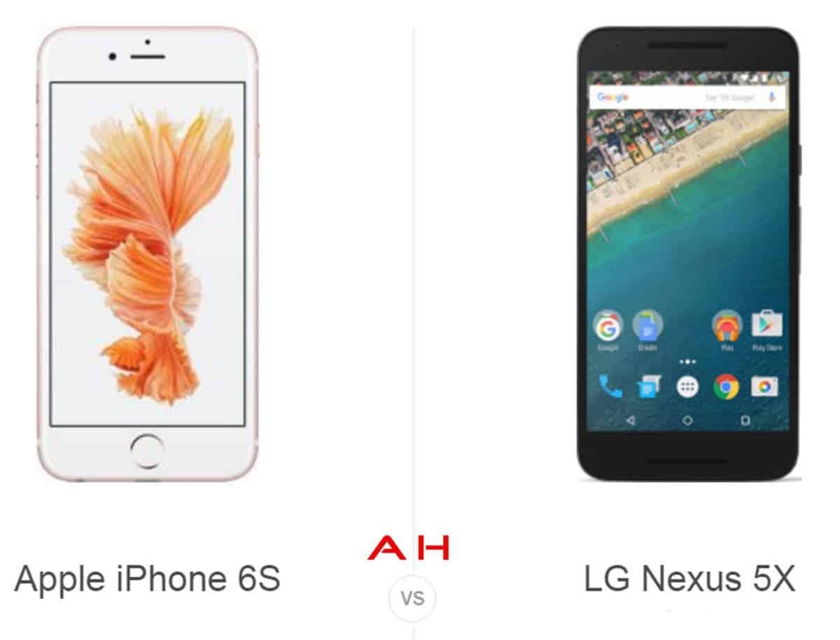 iPhone 6S vs Nexus 5 cam AH