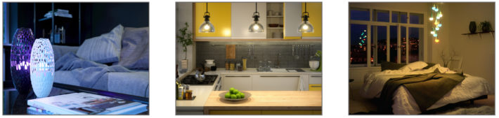 ilumi Smartbulbs - Lifestyle image strip