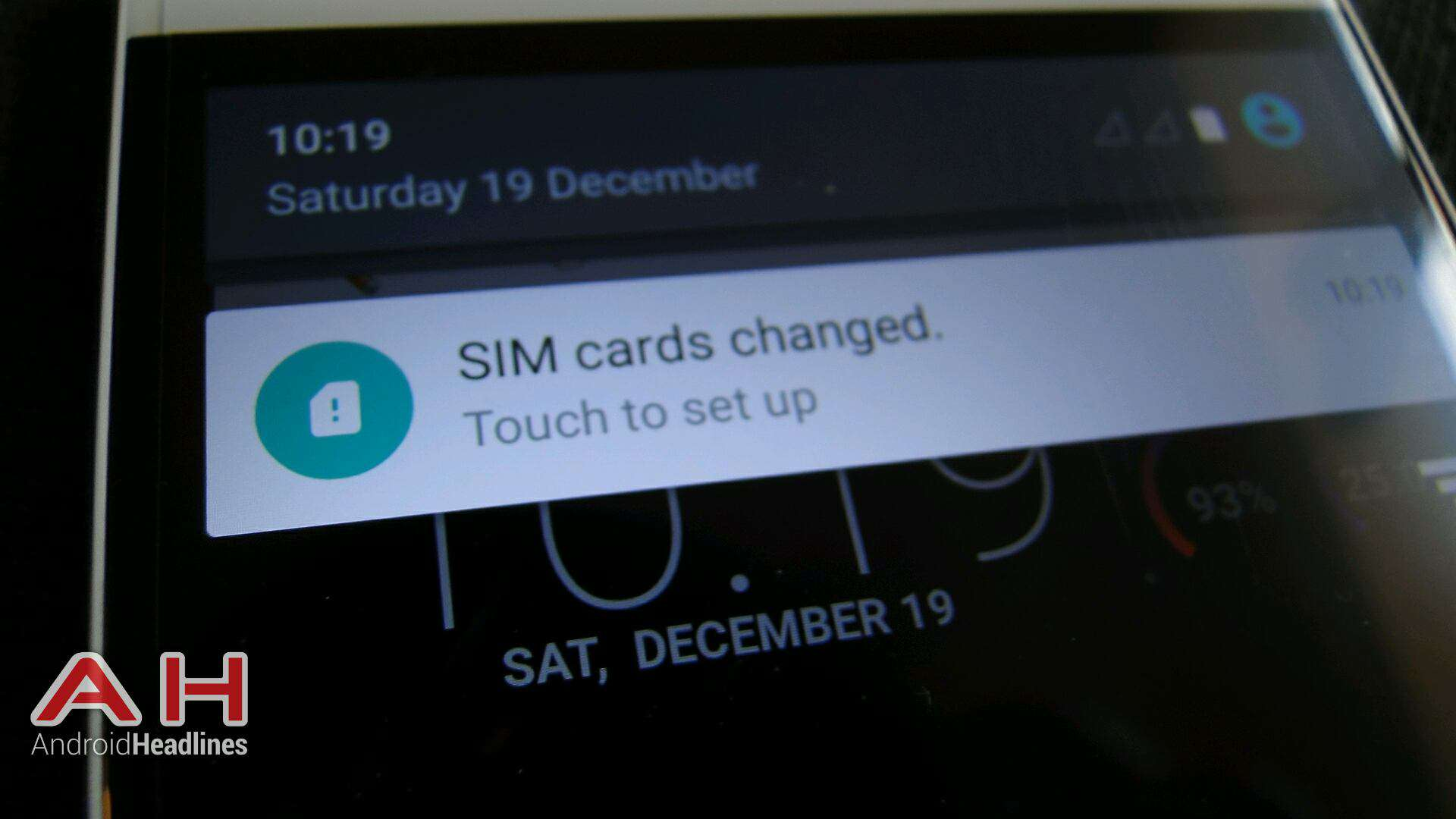 AH Cubot X17 4G SIMs Changed Message