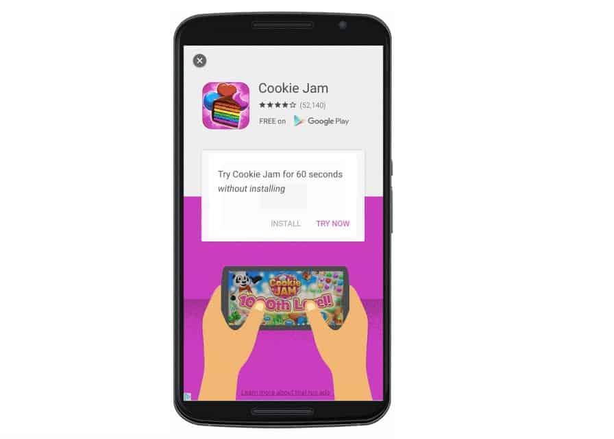 App streaming ads