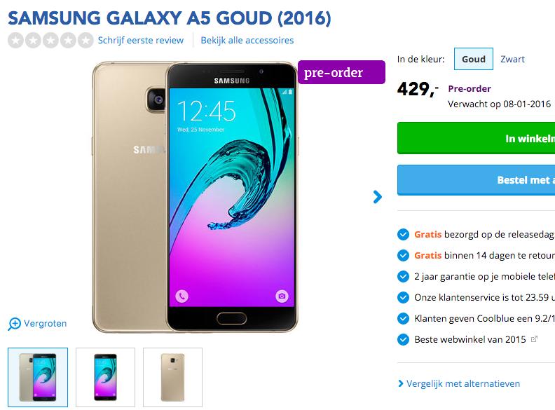 Galaxy A5 Dutch Retailer