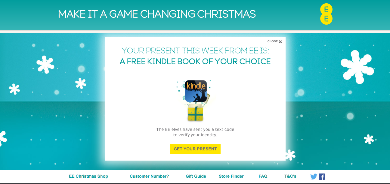 ee opens christmas shop with weekly presents - Christmas Deals 2015