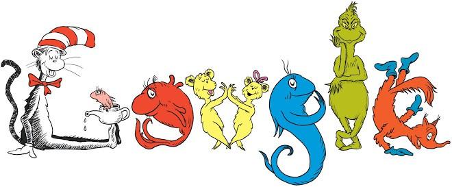 Google Doodle Dr Seuss