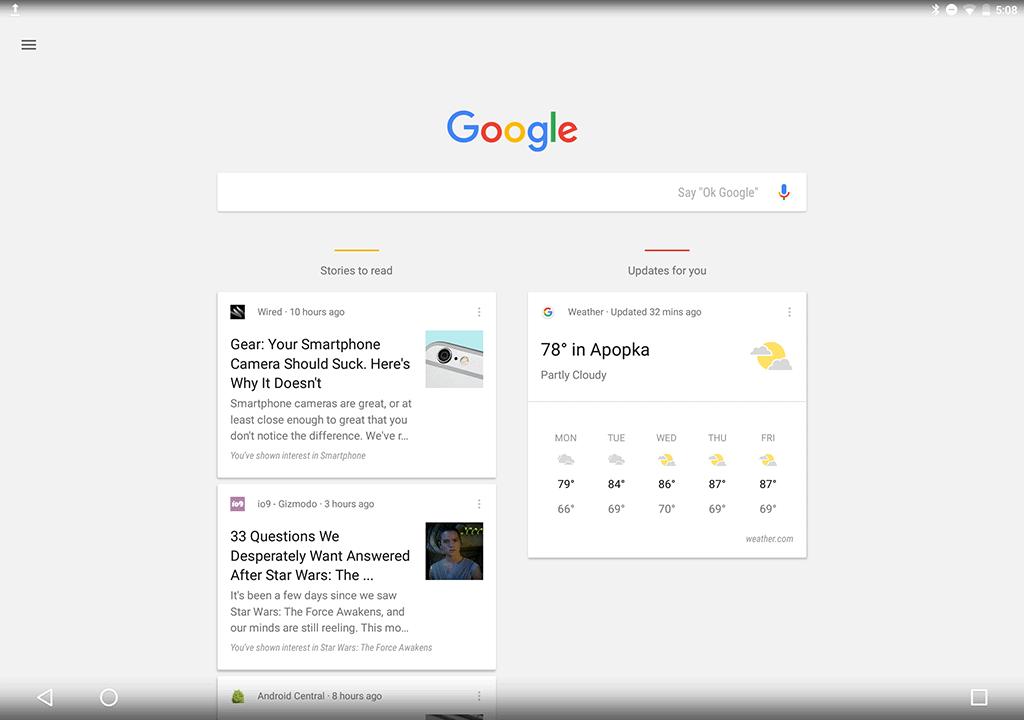 Google Pixel C AH Screenshot ui 2