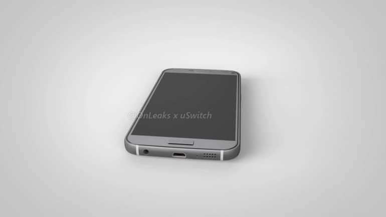Samsung Galaxy S7 Plus CAD render 4