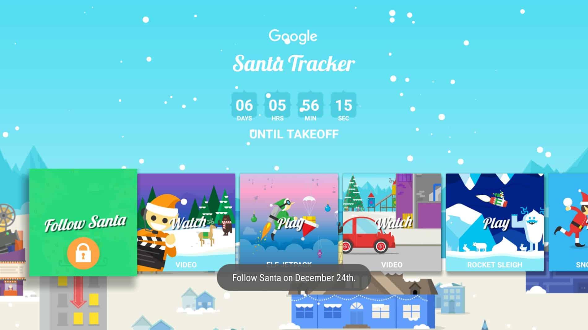 Santa Tracker Android TV-8