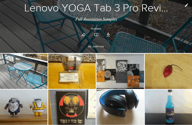 YOGA Tab 3 Pro Samples