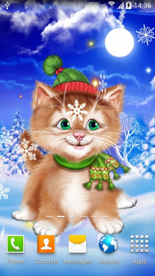 Winter Cat Live Wallpaper