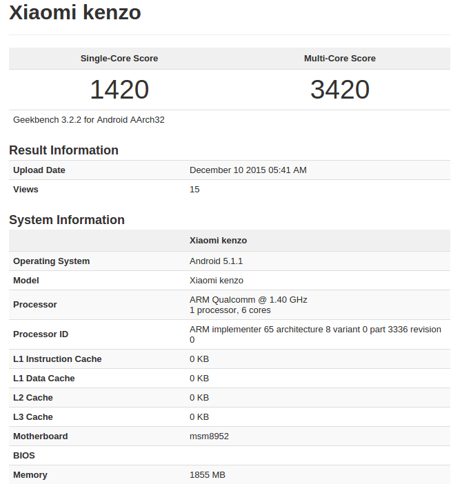 Xiaomi Kenzo Geekbench_1