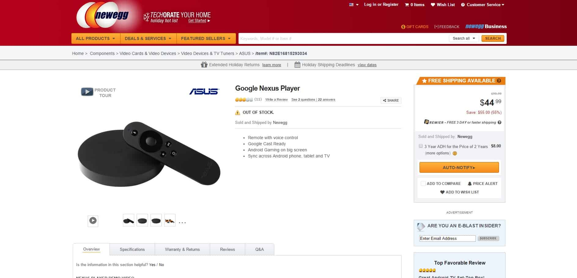 nexus player out of stock 07