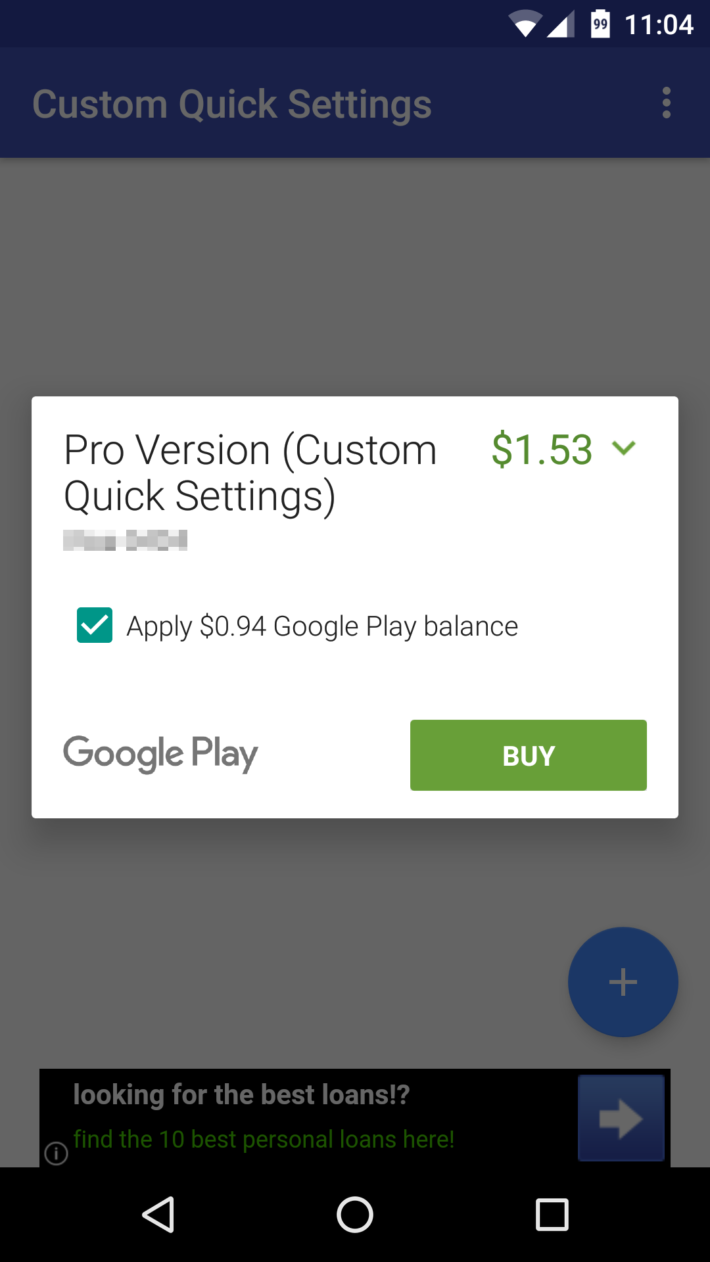 play store credit partial payments