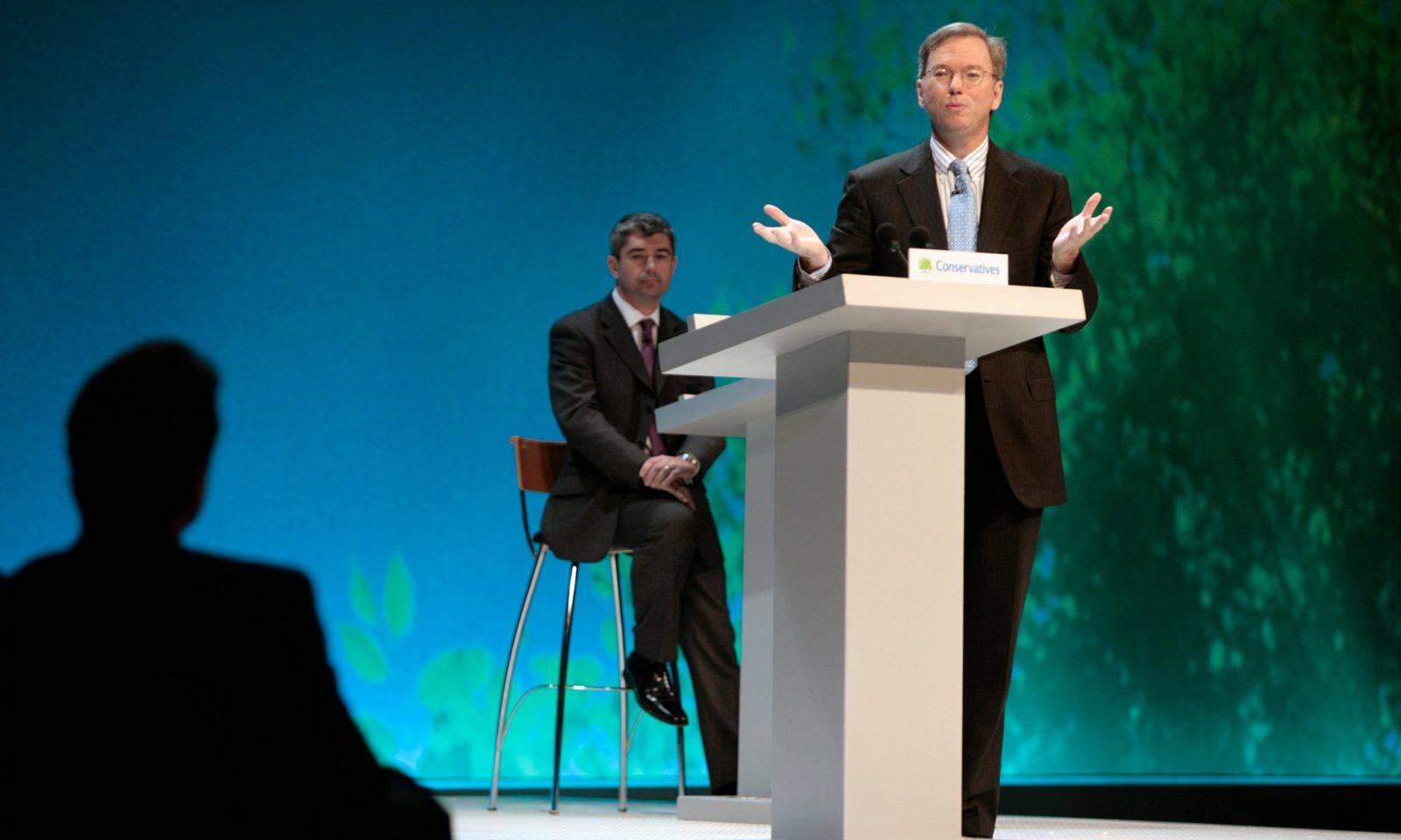 David Cameron Eric Schmidt Google