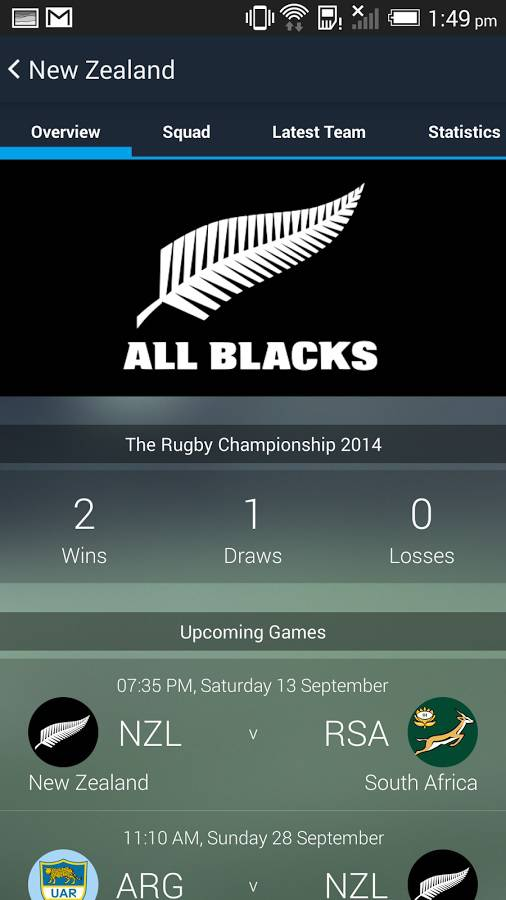 All Blacks Rugby Union App