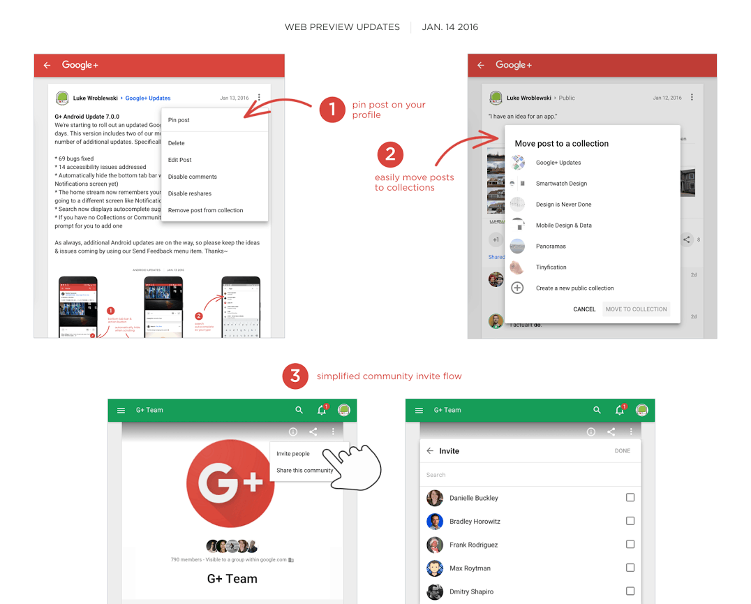 G+ Web Preview Update Jan 14