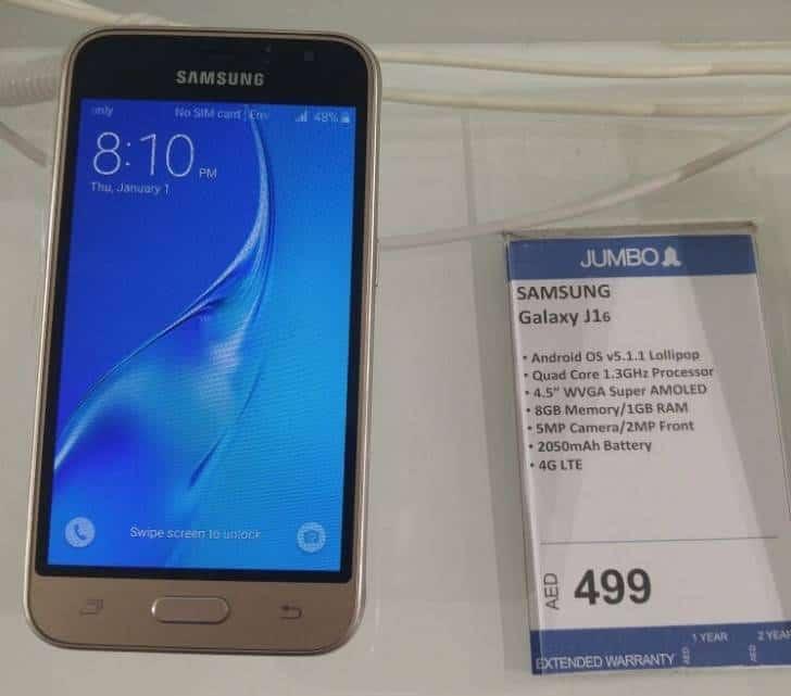 Galaxy J1 (2016) GSM Arena KK