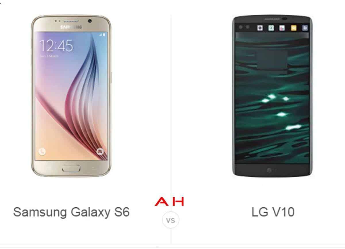 Galaxy S6 vs LG V10 cam AH