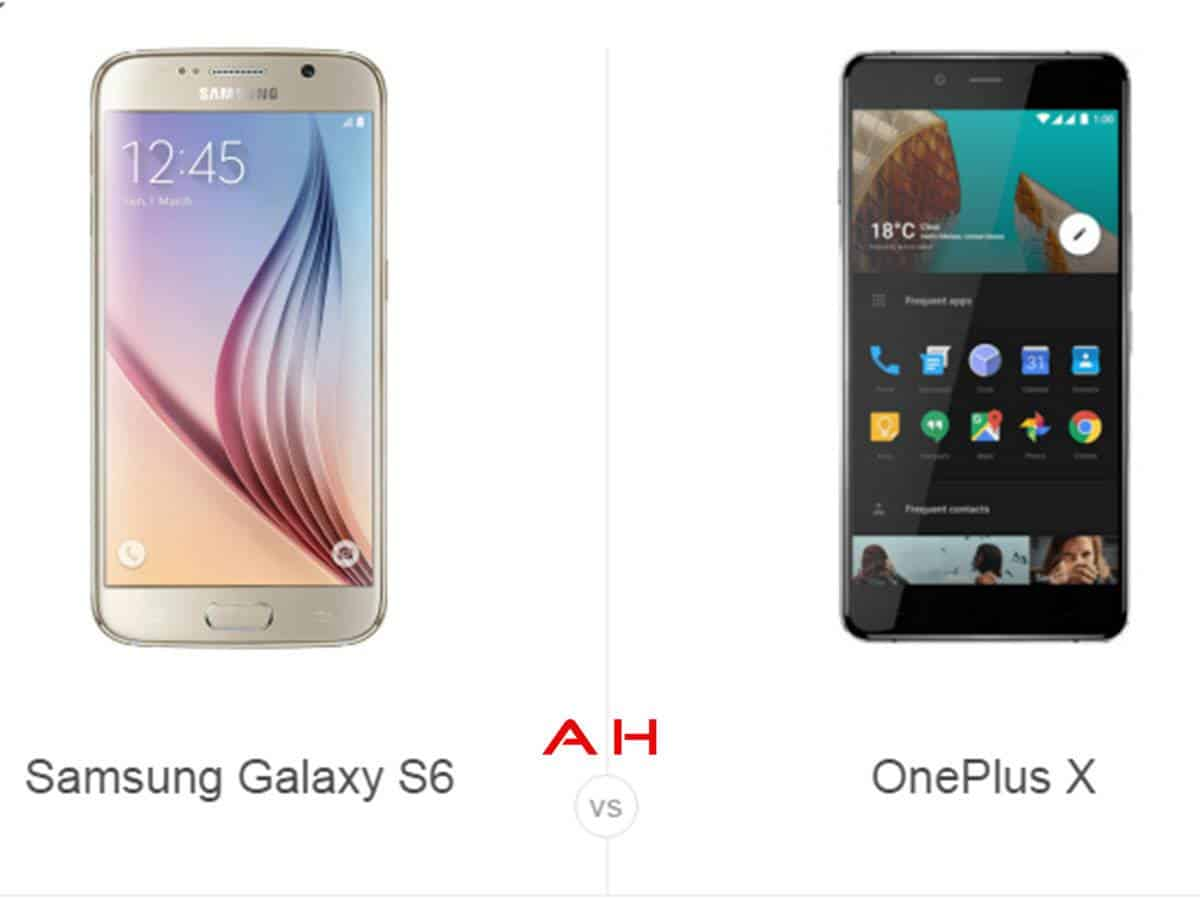Galaxy S6 vs OnePlus X cam AH