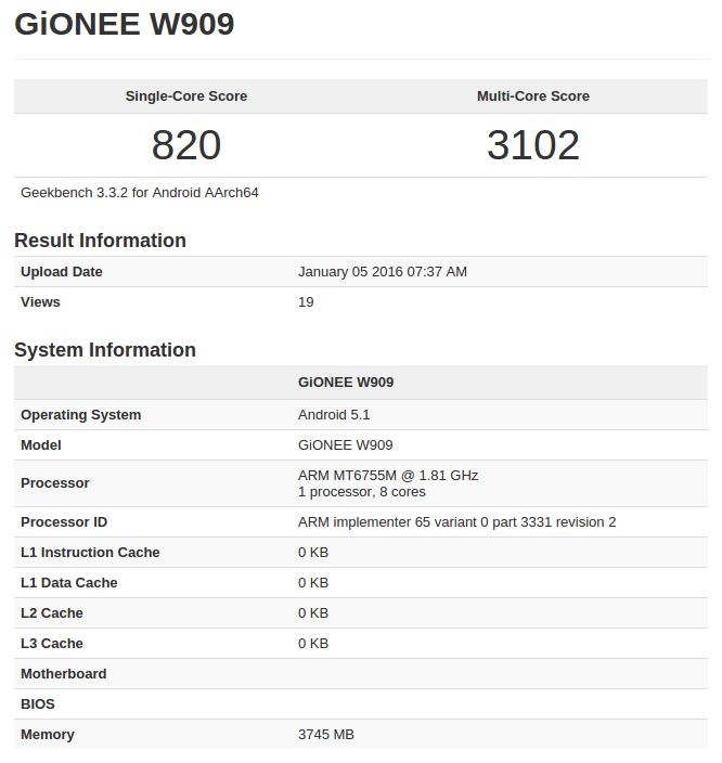Gionee W909 Geekbench leak_1