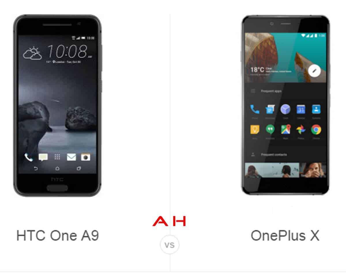 HTC One A9 vs OnePlus X cam AH