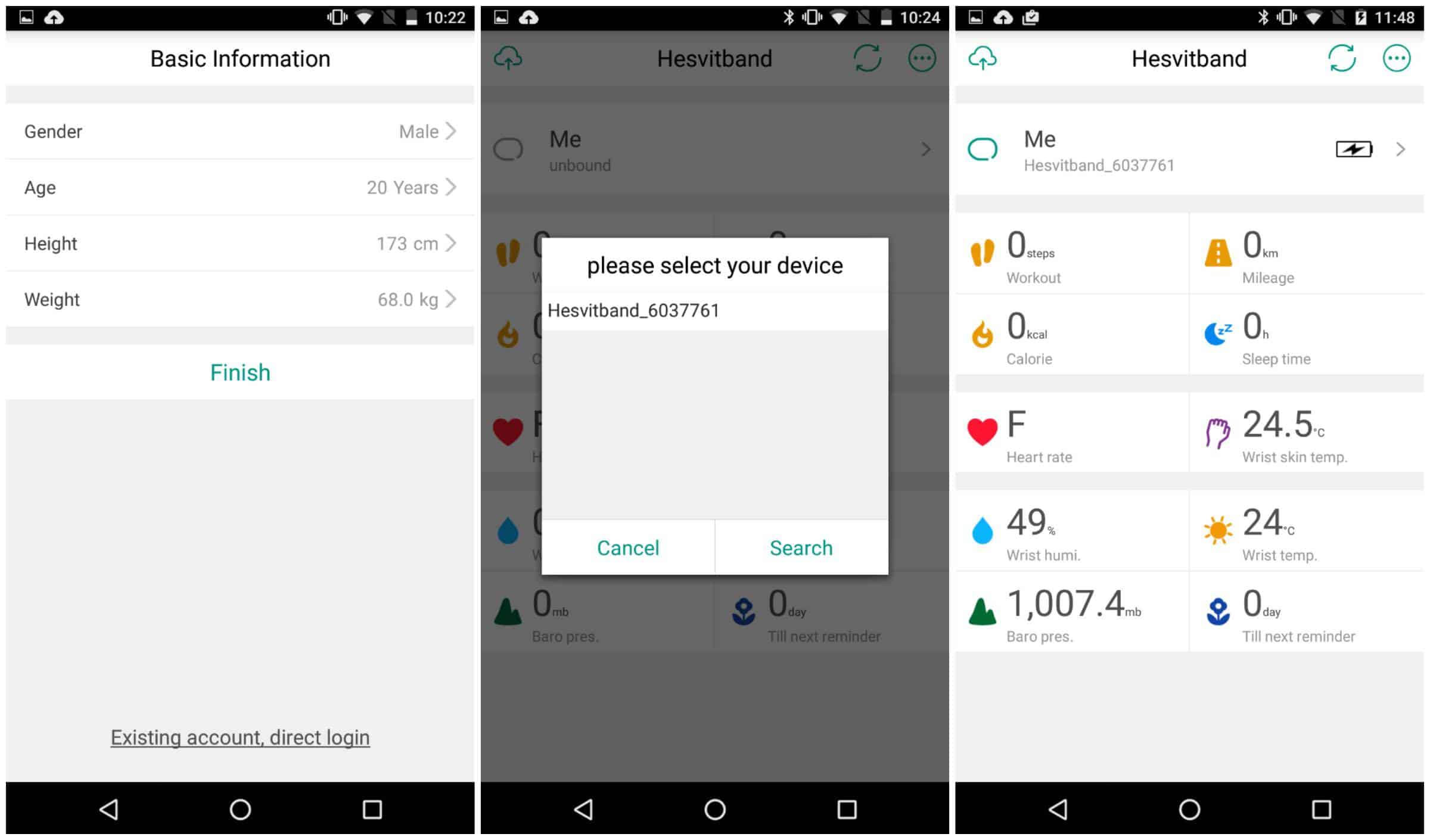 Hesvit App Screen 02